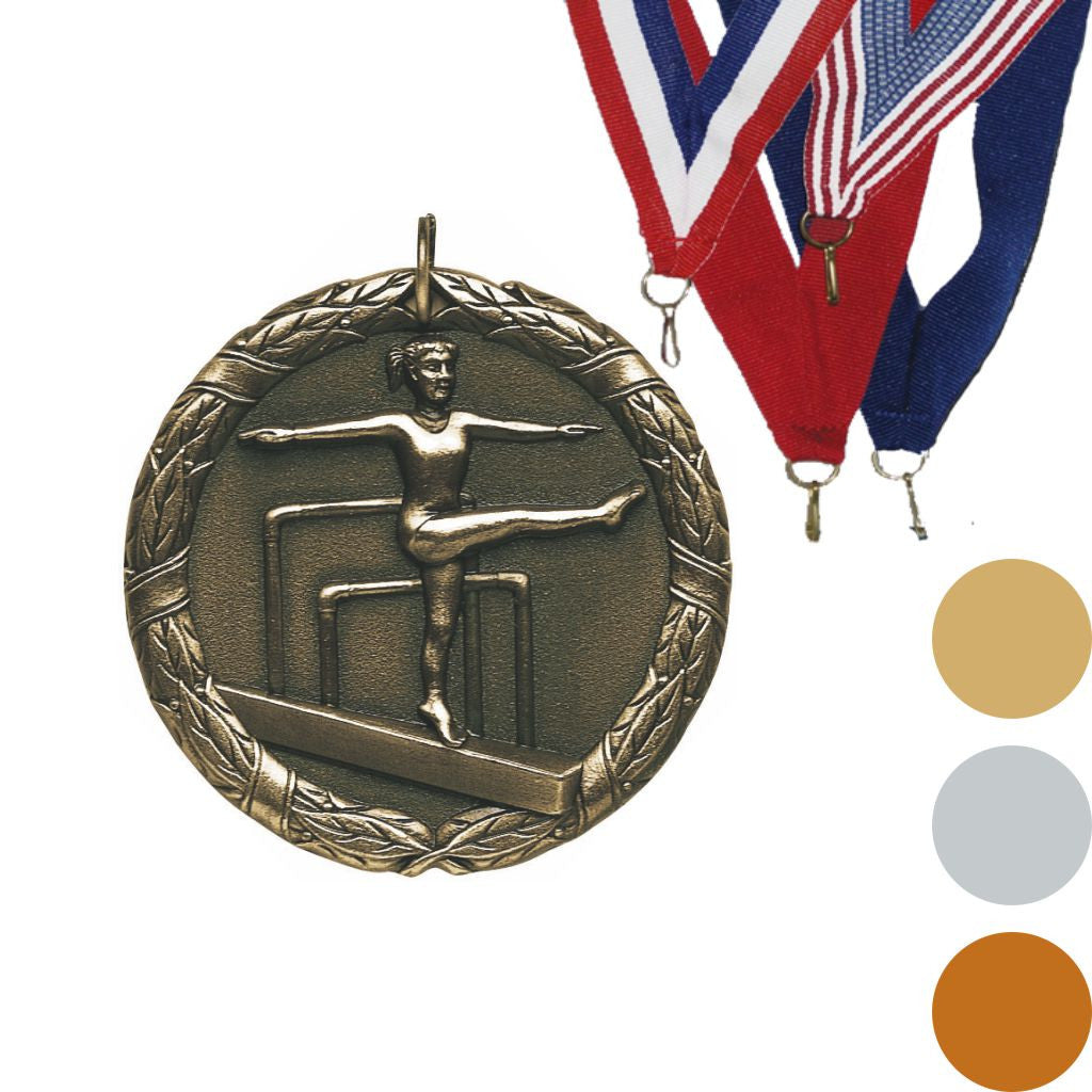 Gymnastics, Female, XR Medal, 2""
