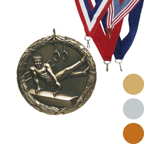 Gymnastics, Male, XR Medal, 2""