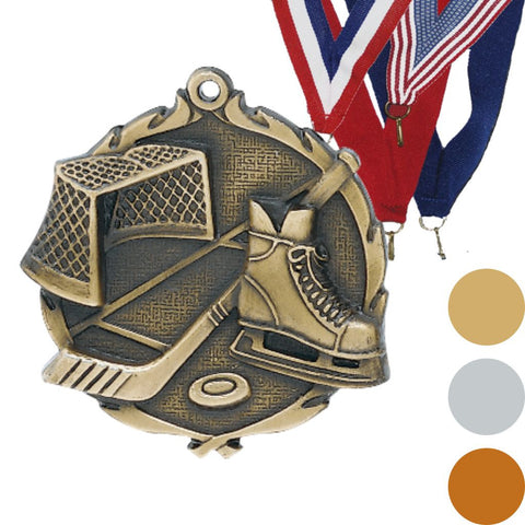 Hockey Wreath Medal, 2 1/2""