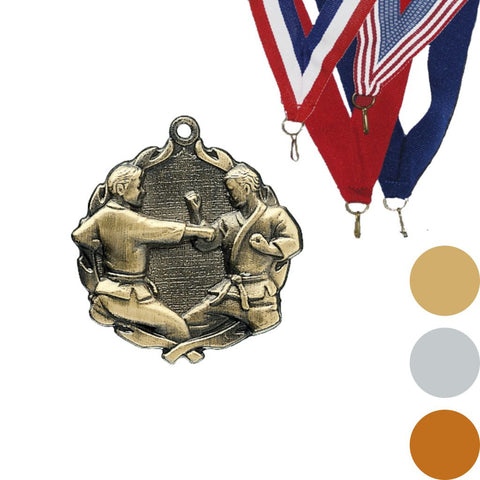 Karate Wreath Medal, 1 3/4""
