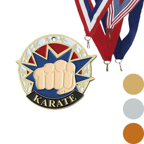 Karate USA Sport Medal, 2""