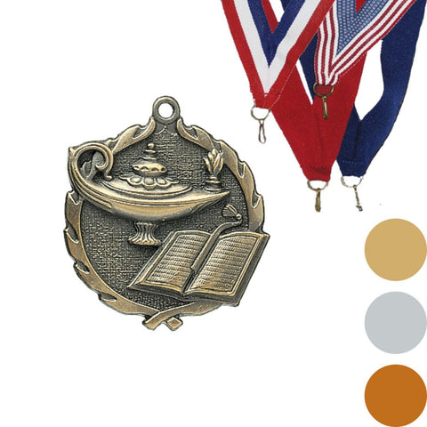 Knowledge Wreath Medal, 1 3/4""