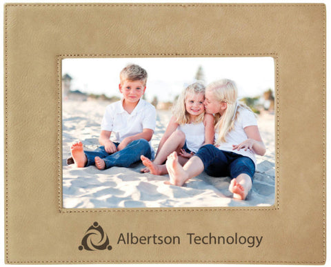 Leatherette Picture Frame in Light Brown, 5x7