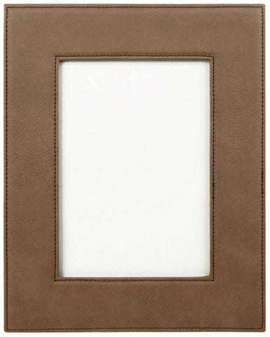 Leatherette Picture Frame in Dark Brown, 5x7