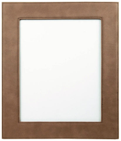 Leatherette Picture Frame in Dark Brown, 8x10