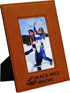 Leatherette Picture Frame in Rawhide, 4x6