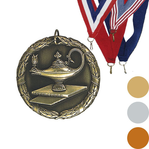 Lamp of Knowledge XR Medal, 2""