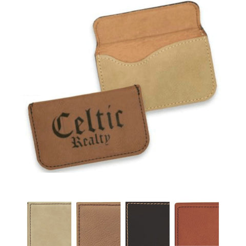 Leatherette Desk Wedge with Business Card Holder with Color Swatches