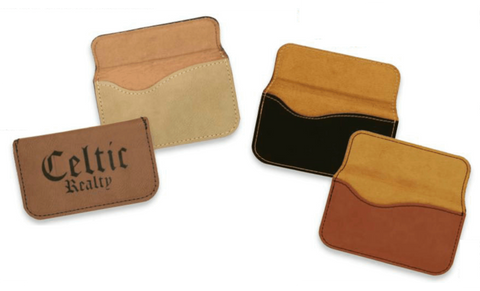 Leatherette Flexible Business Card Case Collection
