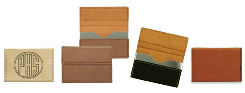 Leatherette Hard Business Card Case Collection