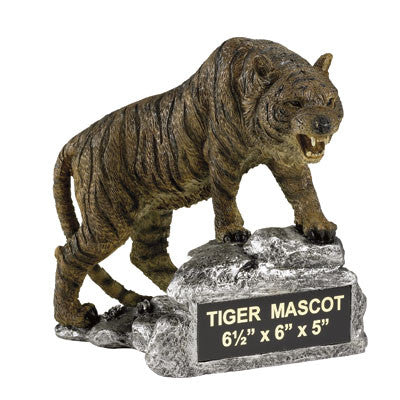Mascot Tiger Growling Resin