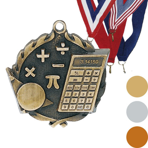 Math Wreath Medal, 2 1/2""