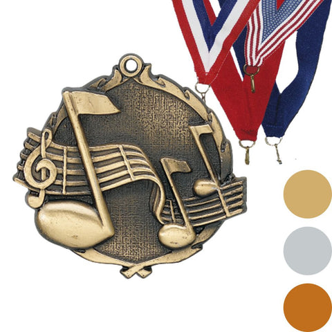 Music Wreath Medal, 2 1/2""
