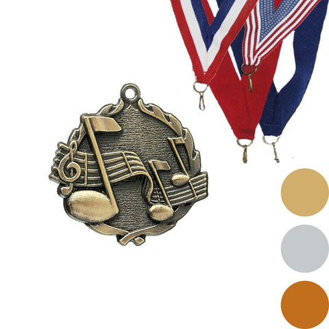 Music Wreath Medal, 1 3/4""