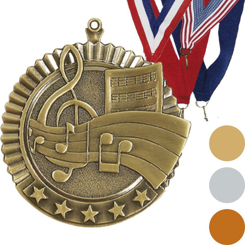 Music Star Medal, 2 3/4""