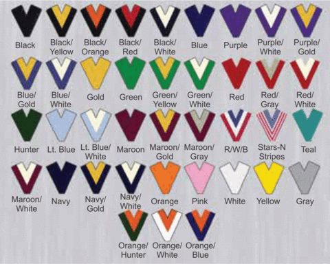 Neck Ribbon Color Choices