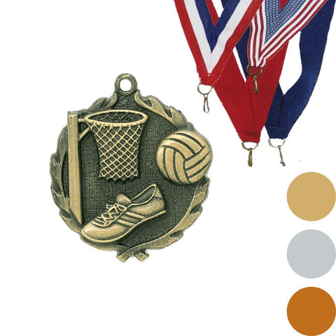 Netball Wreath Medal, 1 3/4""