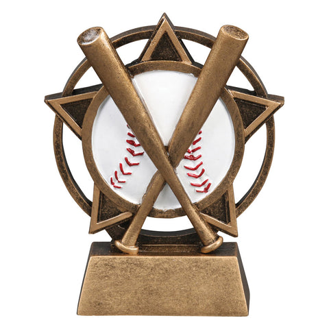 Baseball Orbit Resin Trophy