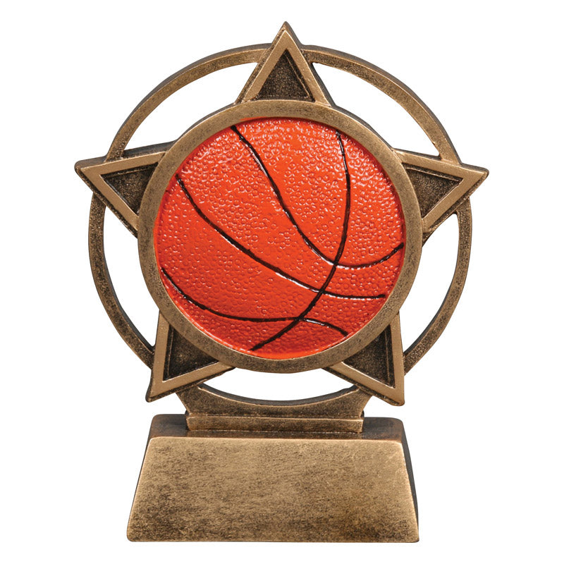 2ba7de96bc0 Basketball Orbit Resin Trophy | Quality Awards & Personalized Engraving