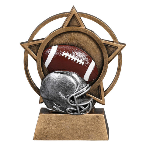 Football Orbit Resin Trophy