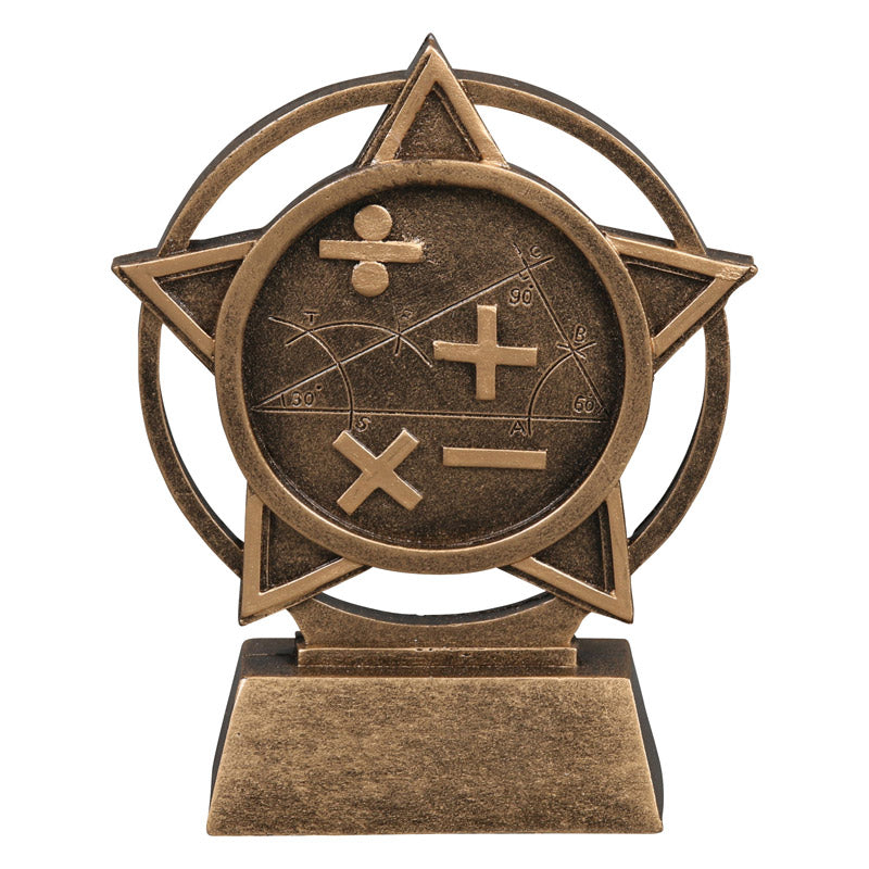 Math Orbit Resin Trophy