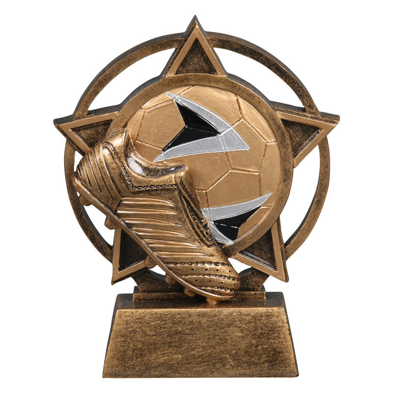 Soccer Orbit Resin Trophy