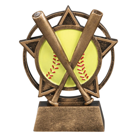 Softball Orbit Resin Trophy