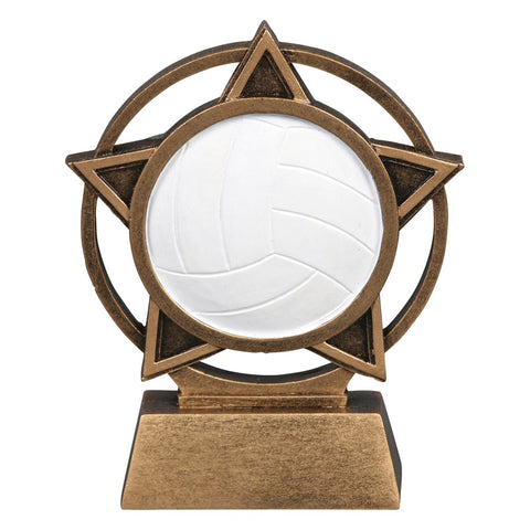 Volleyball Orbit Resin Trophy