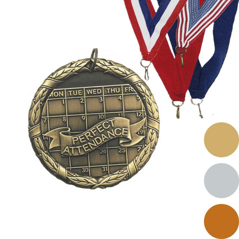 Perfect Attendance XR Medal, 2""