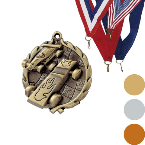 Pinewood Derby Wreath Medal, 1 3/4""