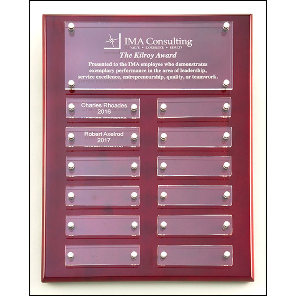 Rosewood High Gloss Perpetual Plaque with Acrylic Engraving Plates