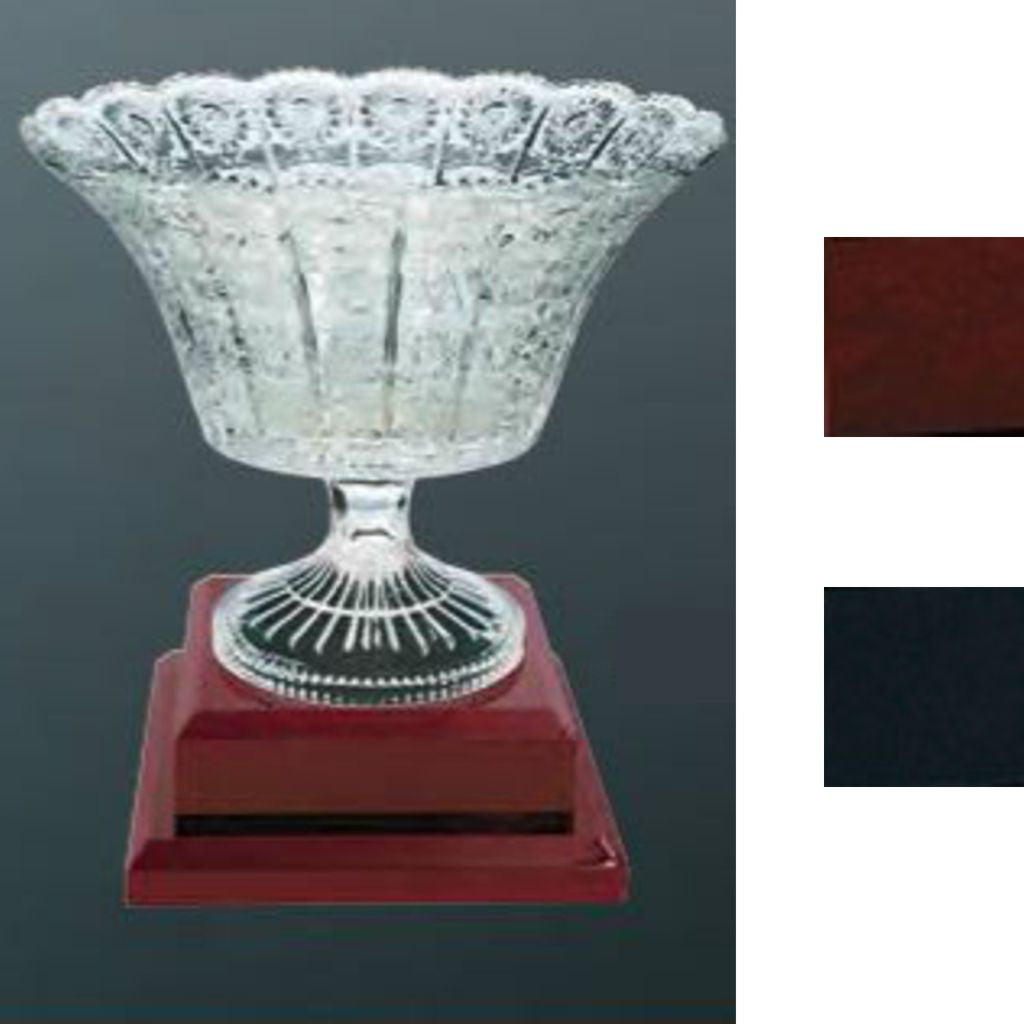 Royal Glass Bowl on Royal Piano Finished Pedestal Base