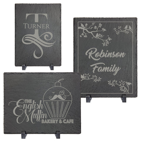 Rectangle Slate Décor with Plastic Feet, 3 Sizes