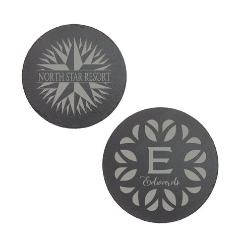 Round Slate Décor with Foam Pads, 2 Sizes