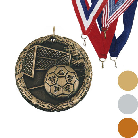 Soccer Ball & Net XR Medal, 2""