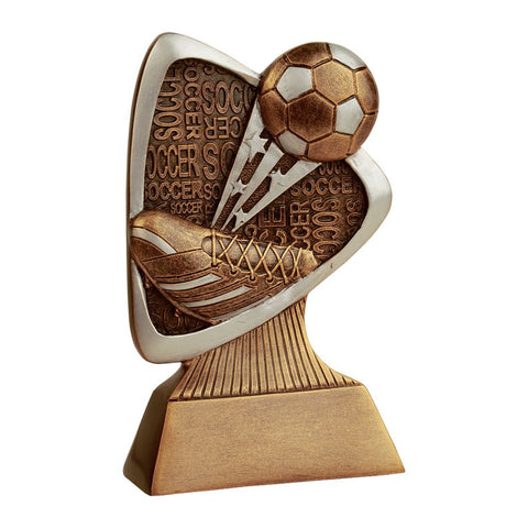 Soccer Triad Resin Trophy