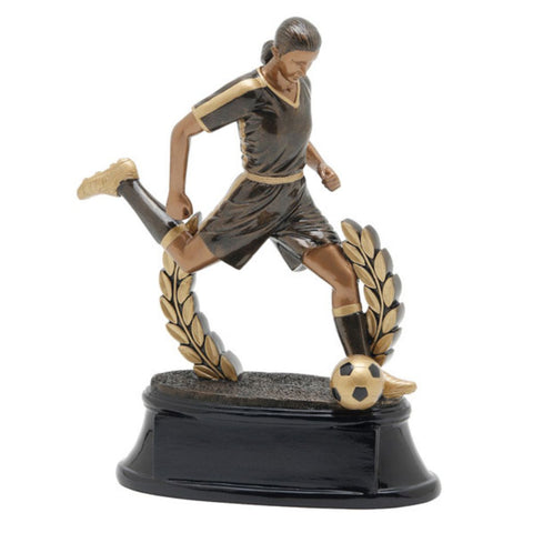 Soccer, Female, Power Resin, Extra Large at an angle