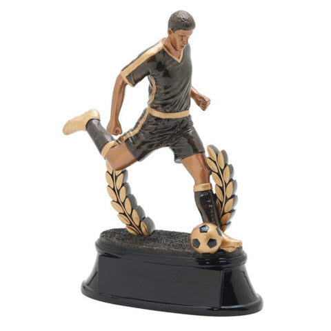Soccer, Male, Power Resin at an angle