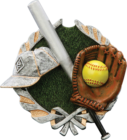 Softball Resin Plaque Mount