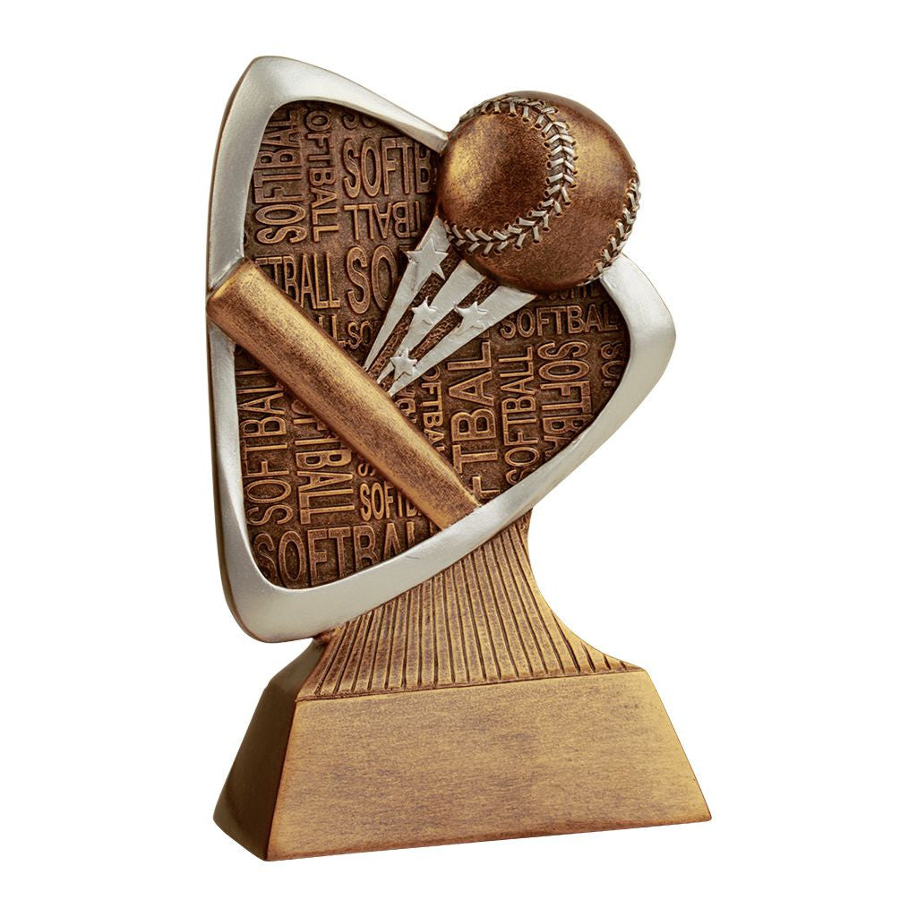 Softball Triad Resin Trophy