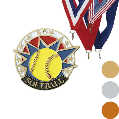 Softball USA Sport Medal, 2""