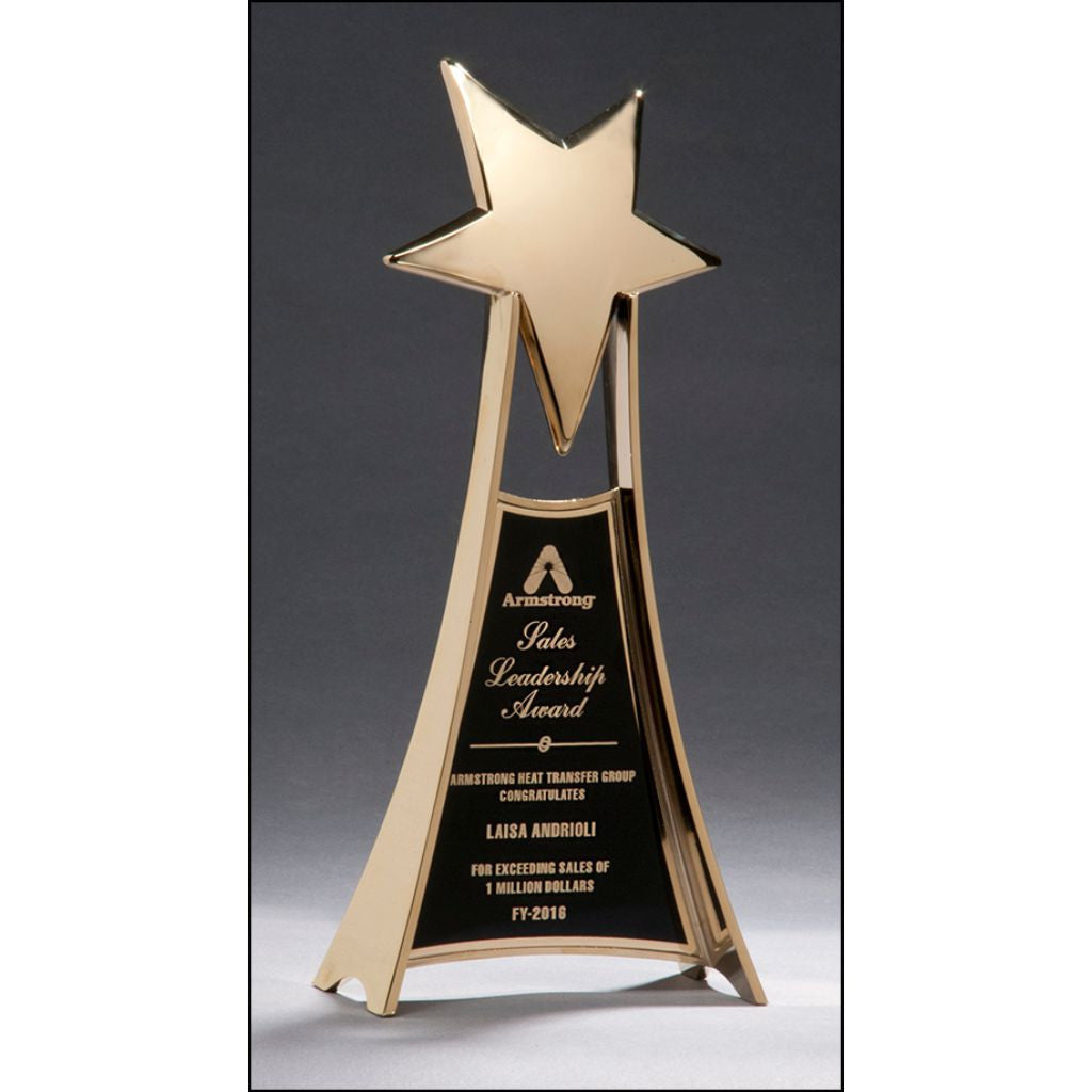 Star Trophy with Gold Metal Finish, Sales Award