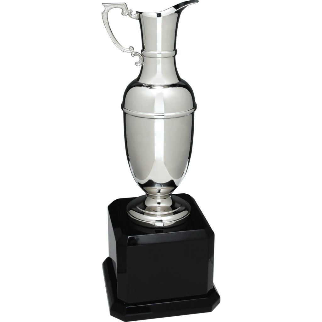 Swatkins Silver Claret Jug with Royal Piano Finish Base