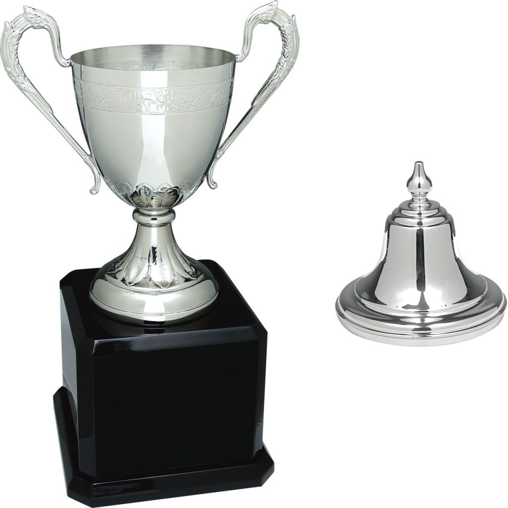 Swatkins Silver Hand-Chased Cup with Royal Piano Finish Base
