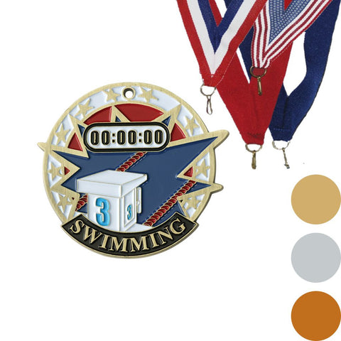 Swimming USA Sport Medal, 2""