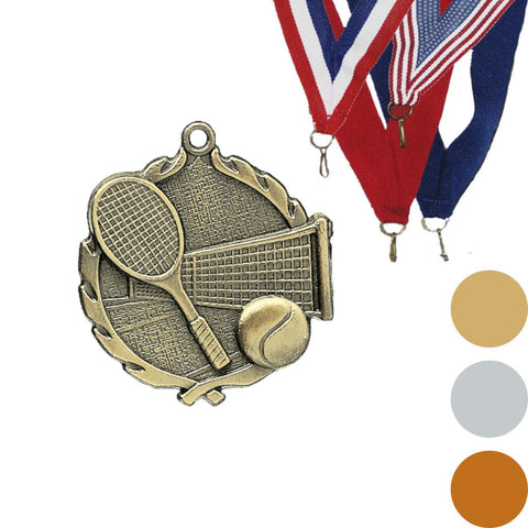 Tennis Wreath Medal, 1 3/4""