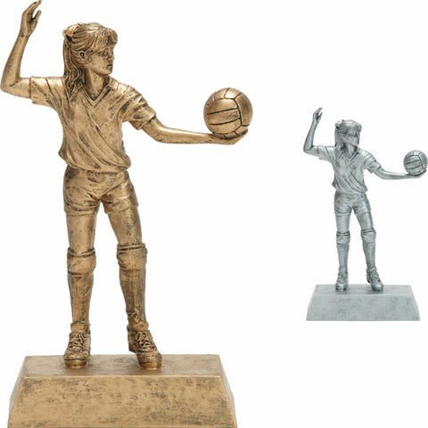 Volleyball, Female, Resin Figure Trophy, 2 Colors