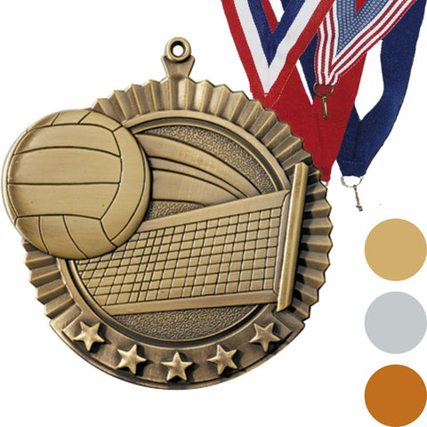 Volleyball Star Medal, 2 3/4""