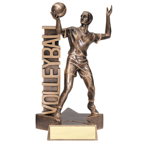 Volleyball, Male, Billboard Resin Trophy, 2 Sizes