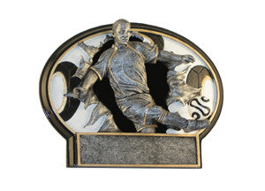 male SOCCER statue trophy  resin small size PDU 55515GS